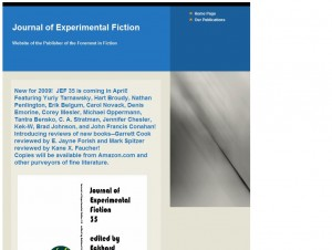 The Journal of Experimental Fiction