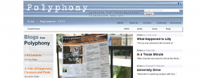 Polyphony On Line : Magazine for International Literature and Art