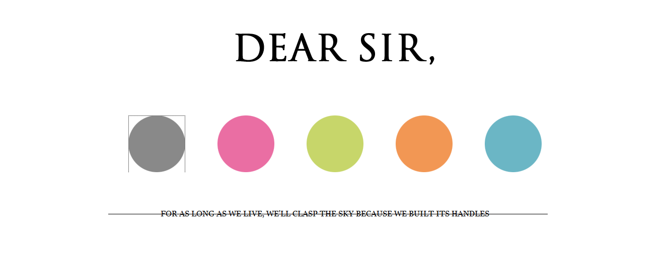Dear Sir, (DEFUNCT)