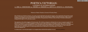 Poetica Victorian: A Journal of Victorian Poetry