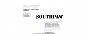 Southpaw Literary Journal