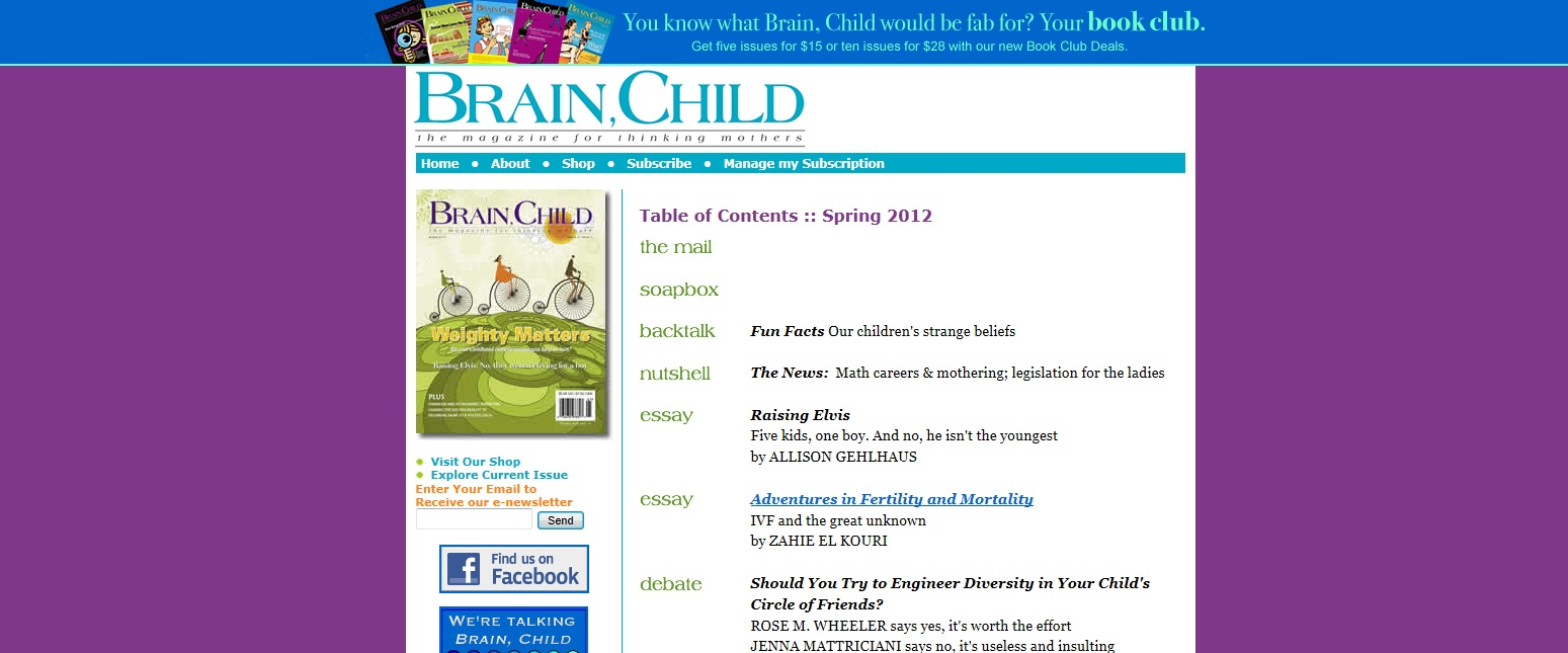 Brainchildren a collection of essays
