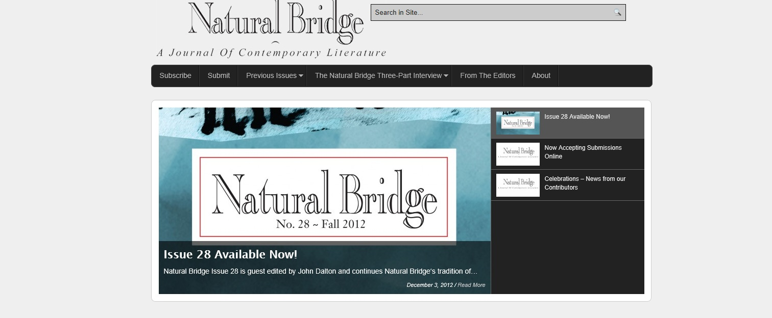 Natural Bridge Literary Journal Umsl 8