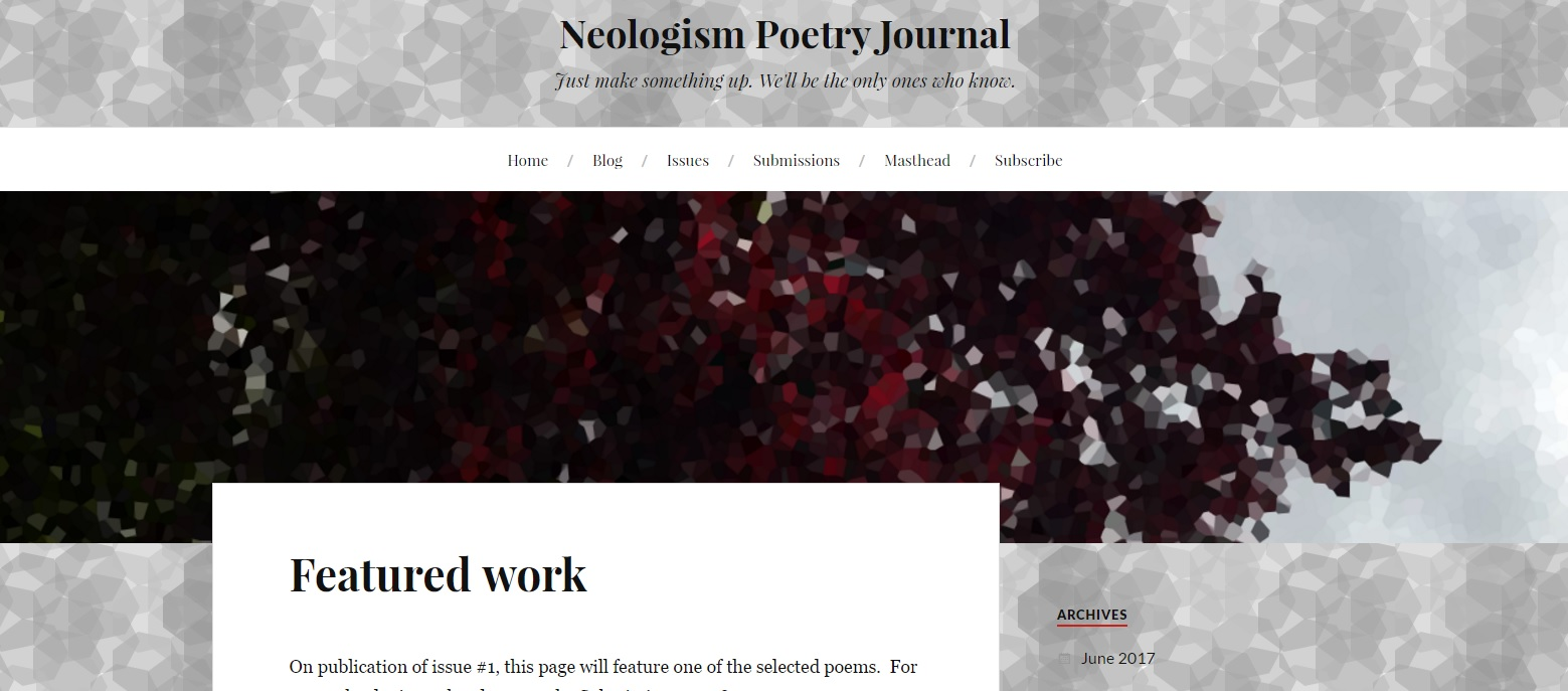 Neologism Poetry Journal