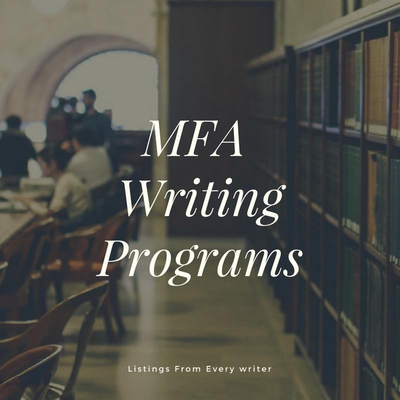 Mfa Writing Programs