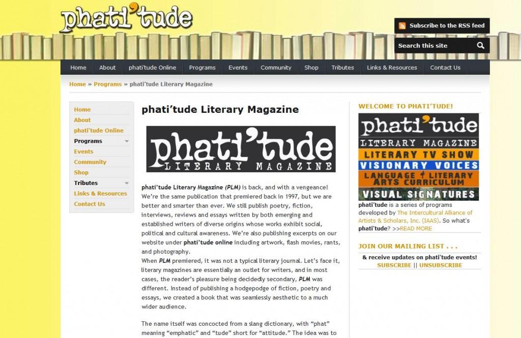 phati'tude Literary Magazine – Literary Magazines