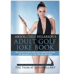 """Absolutely Hilarious Adult Golf Joke Book"":"