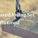 The Rusted Swing Set by Sheila Good