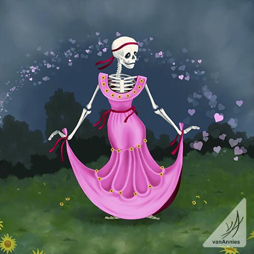Dancing Dead Valentine by Annie Dunn