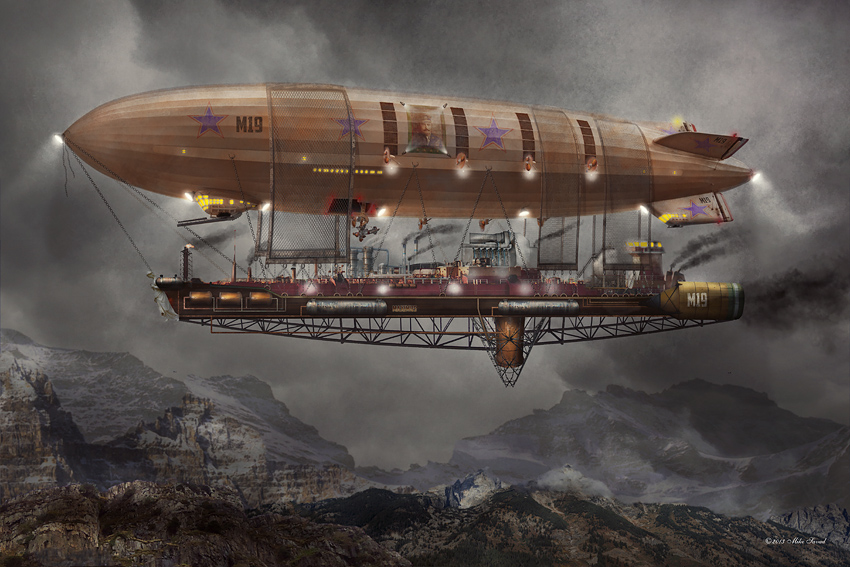 Airship Maximus by Mike Savad