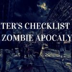 writers checklist zombie apocalypse