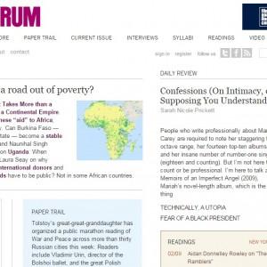 Lit Mag: Bookforum Magazine