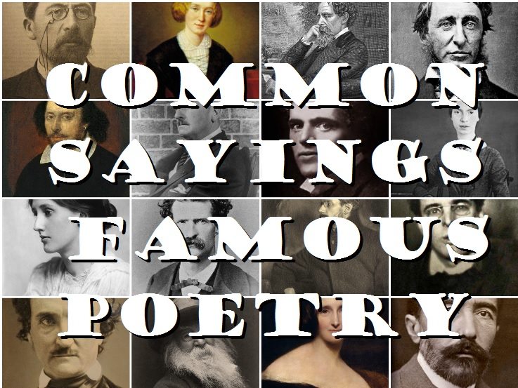 Famous Saying, Famous Poetry Quiz