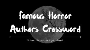Crossword for Writers Horror Kickoff