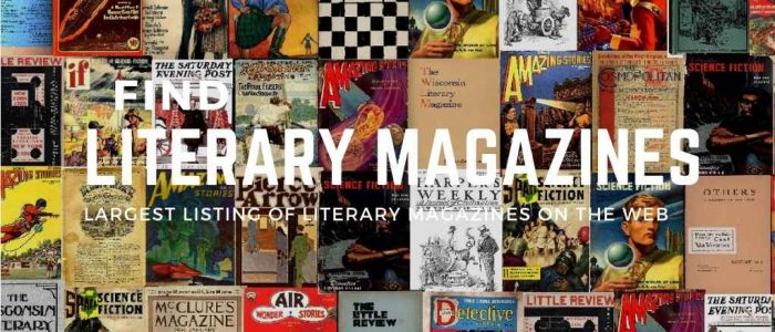 Literary magazines collage